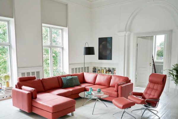 Ekornes-Stressless-red-sofa